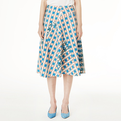 Pattern flare skirt / ONLY GREEN S