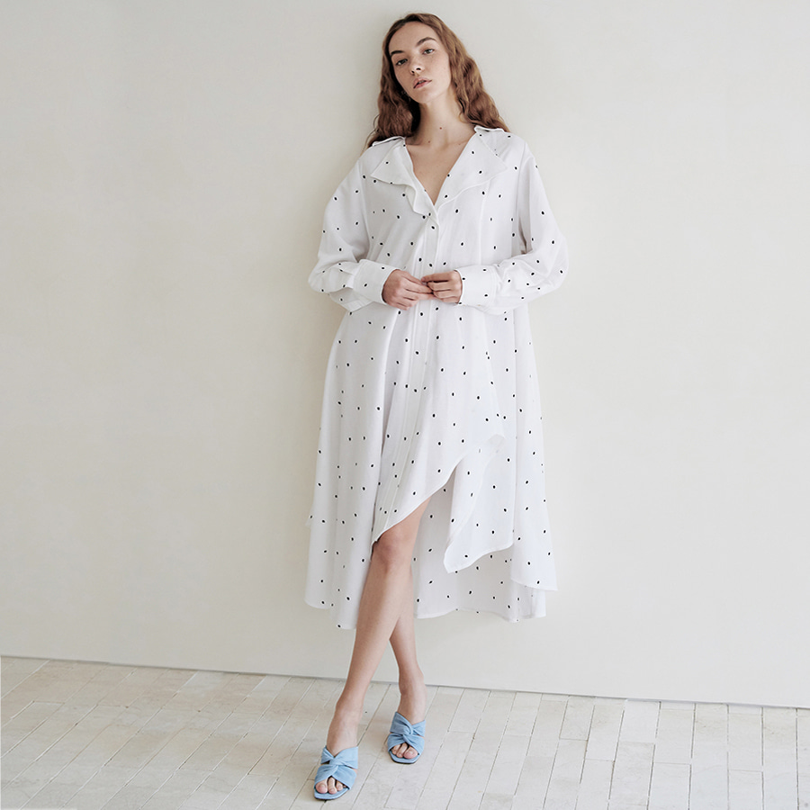 Wave Long Shirts Dress