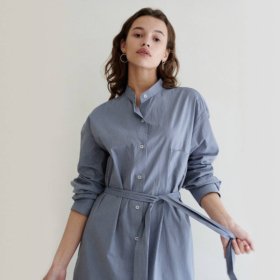 Flat stripe shirts dress