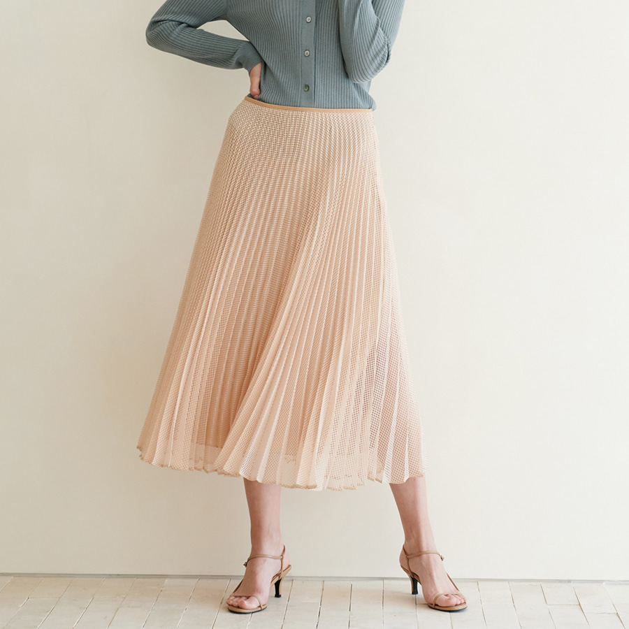 Mesh Pleats Skirts