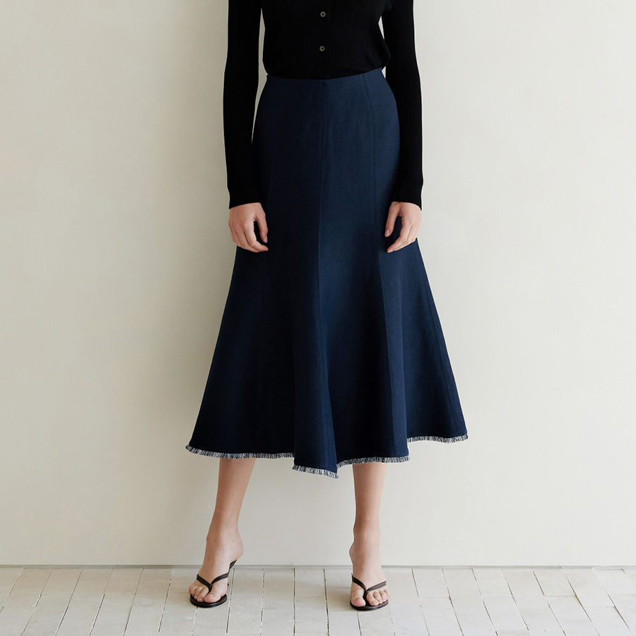 Frayed flare Skirt