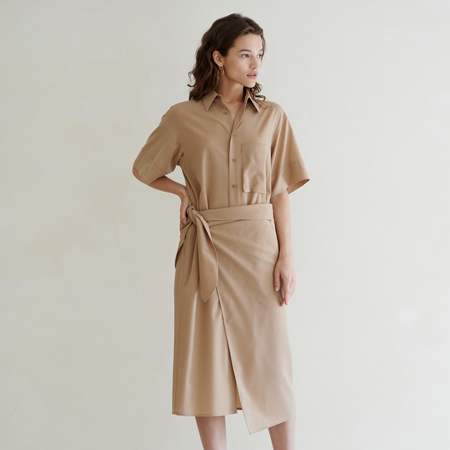 Overlay Summer Wool Wrap Dress