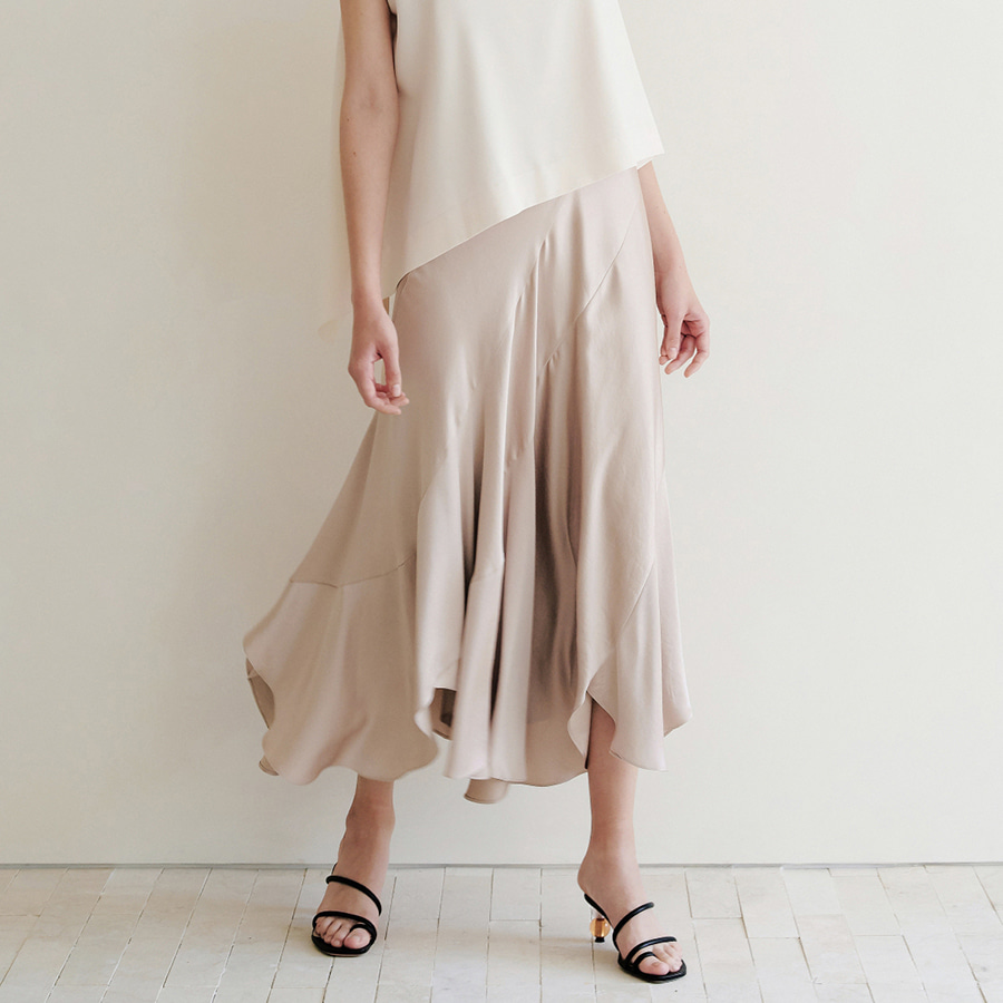 Waterfall Silky Skirt