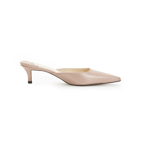 SIHWA BASIC SLIDE MULE LEATHER CHAMPAGNE QUARTZ