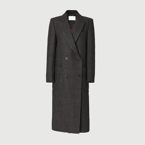 [ 피팅세일 30% ] CENT CHECK LONG COAT
