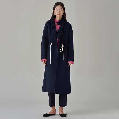 Cel. cashmere string coat