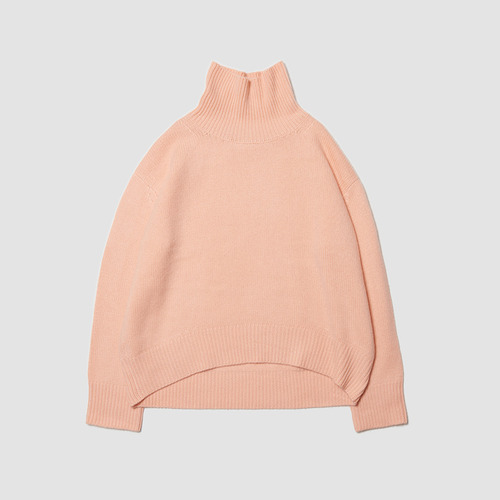 [ SUPER CASHMERE ] C.  cashmere turtle neck peach pink