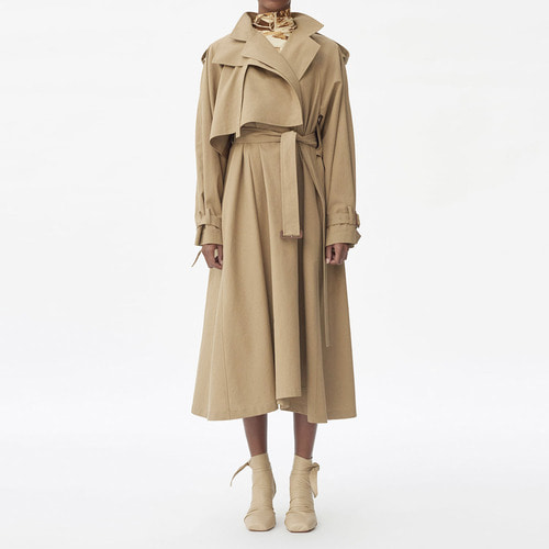 [ 40%SALE ]  C.TRENCH COAT IN BRUSHED COTTON