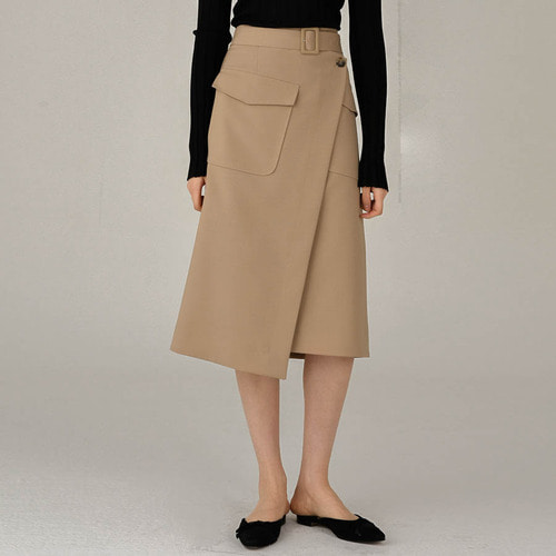 Cel. WRAP BELTED SKIRTS