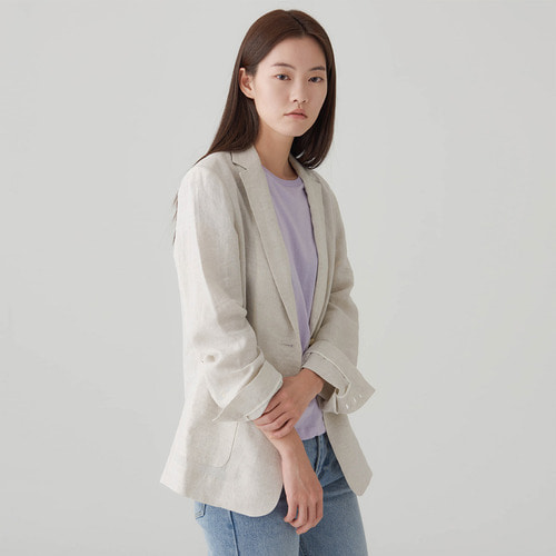 SOURCE LINEN BLAZER
