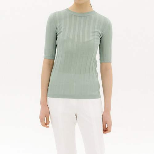 SUMMER ribbed wool-blend sweater