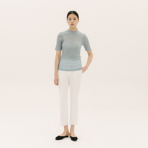 See-through RIB Knit