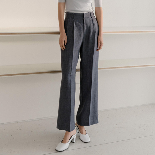 ADD LOW LINEN TUCK TROUSER