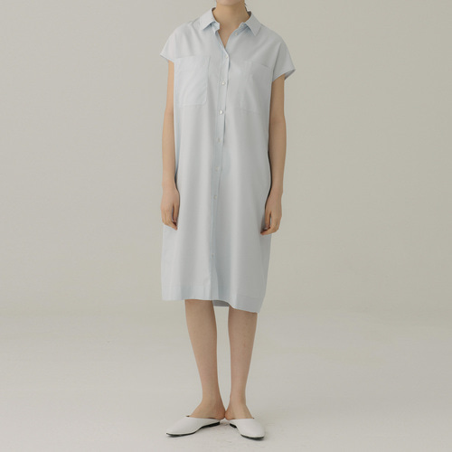 ORGANIC SILK POCKET DRESS