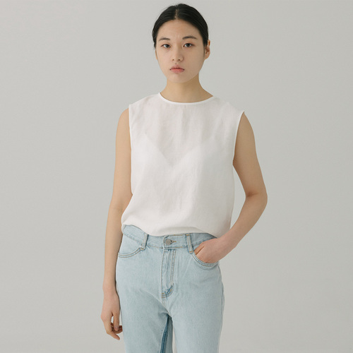 TWIST LINEN SLEEVELESS