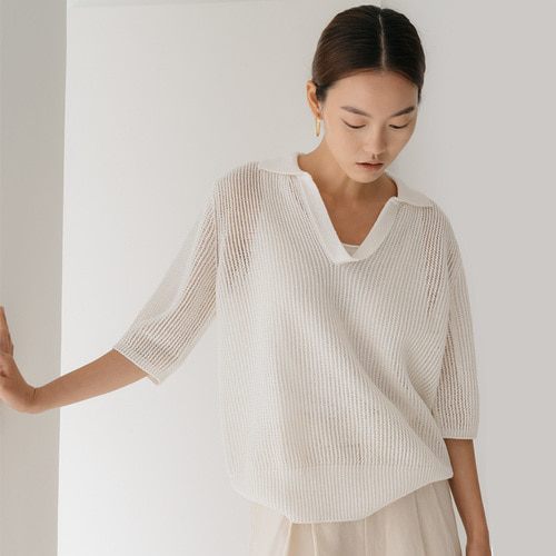linen see through knit