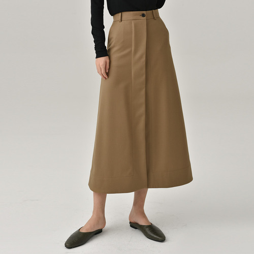 2차리오더중 / C. wool slit long skirts