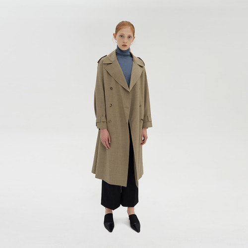 TICA WOOL DOUBLE TRENCH COAT