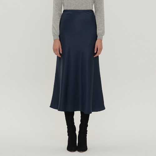 Deep wave satin skirts