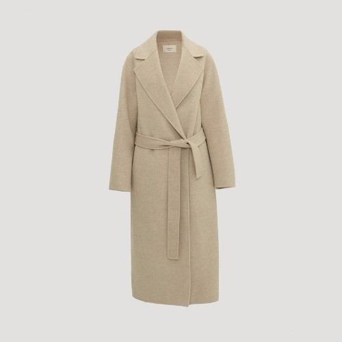 NO 395 CASHMERE COAT ( peaked lapel )
