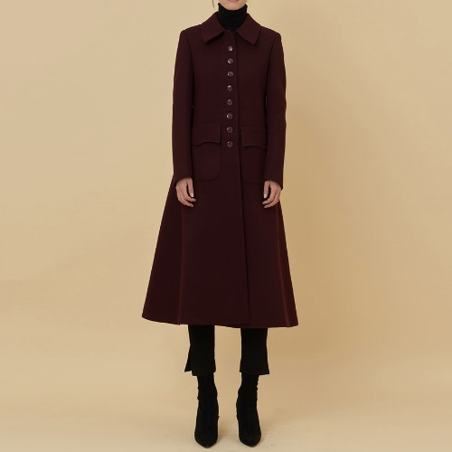 AA button wool coat