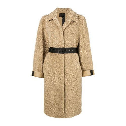 PREORDER / Oversized belted shearling coat