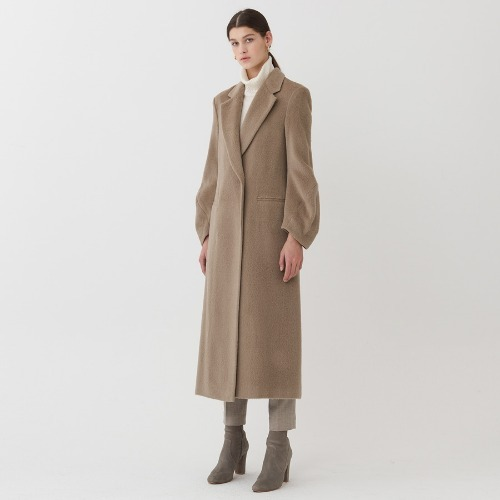 Victoria twist sleeve coat