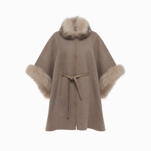 LP Fox trimmed cape