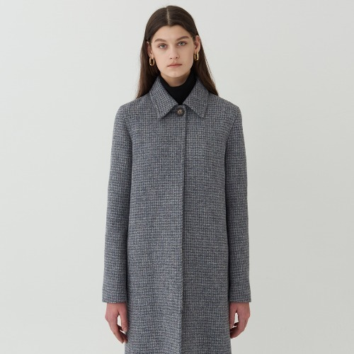 GRAY CHECK COAT by harris tweed