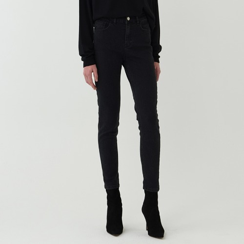 Black denim skinny