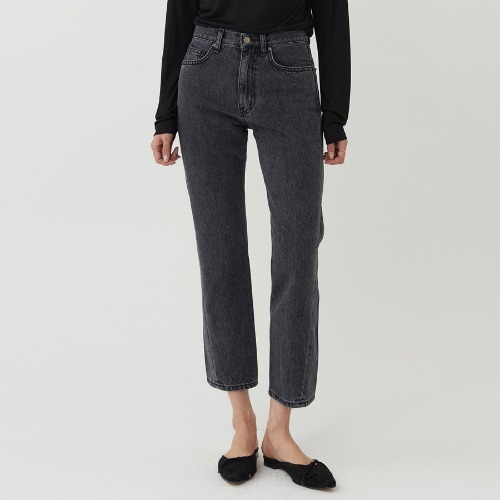 Comma curved black stone straight jean