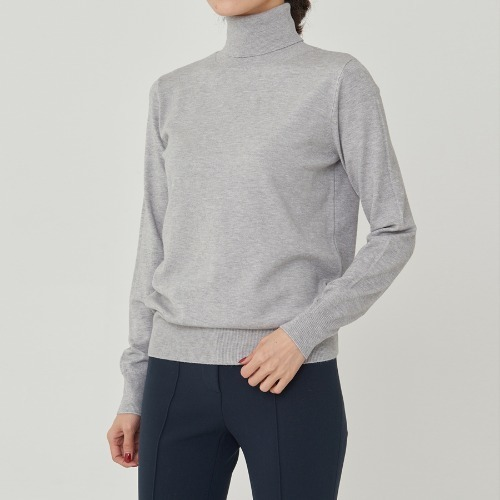 SOFT SLIM TURTLE NECK KNIT