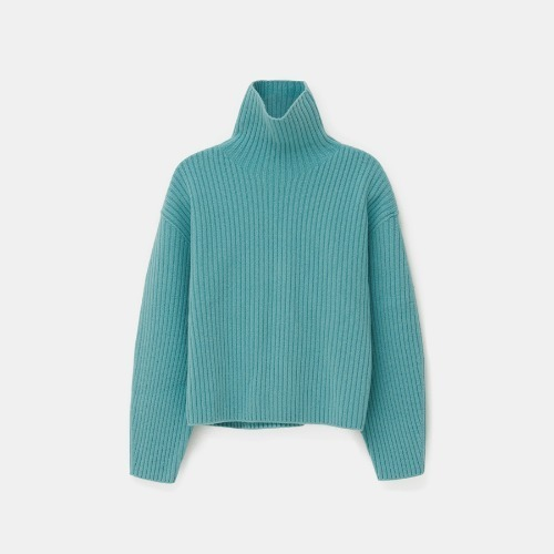 Volume Ribbed turtle knit