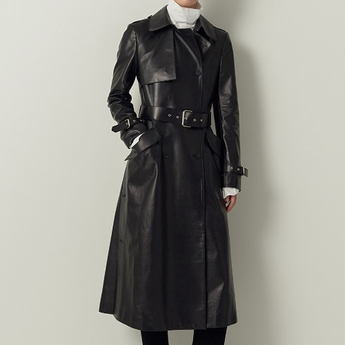 Collection leather trench coat