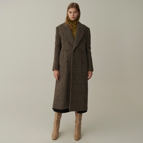 MM glen check double coat