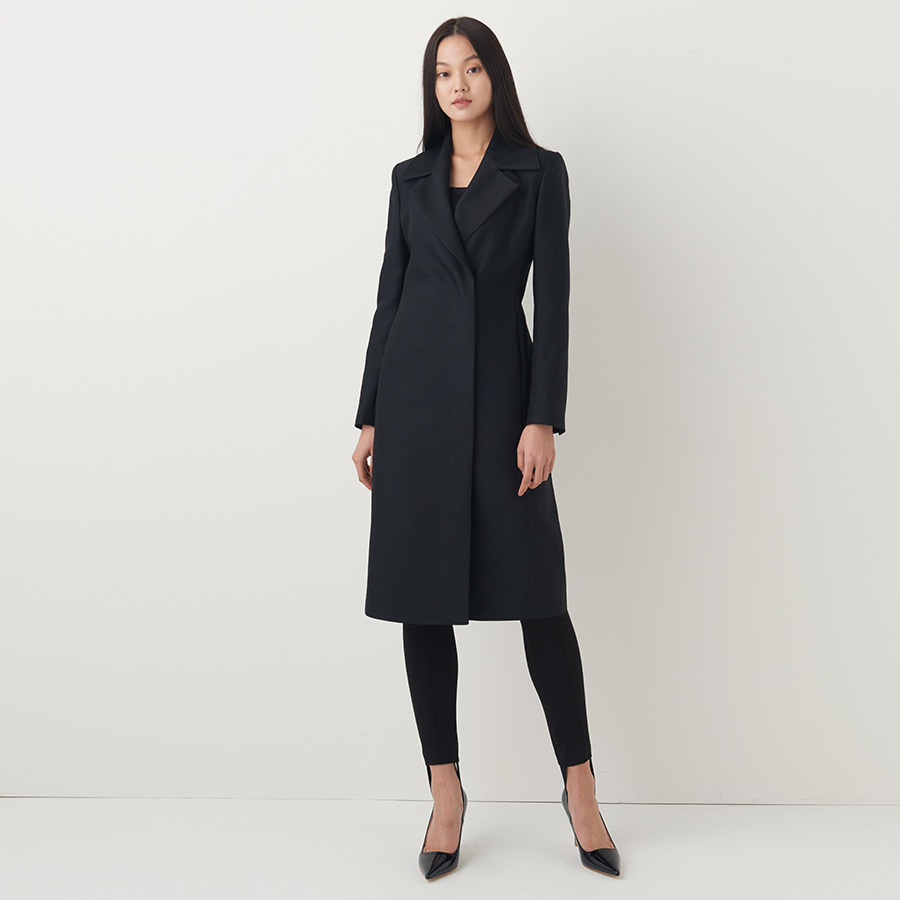[ LIMITED ] Obessed wool silk dress coat