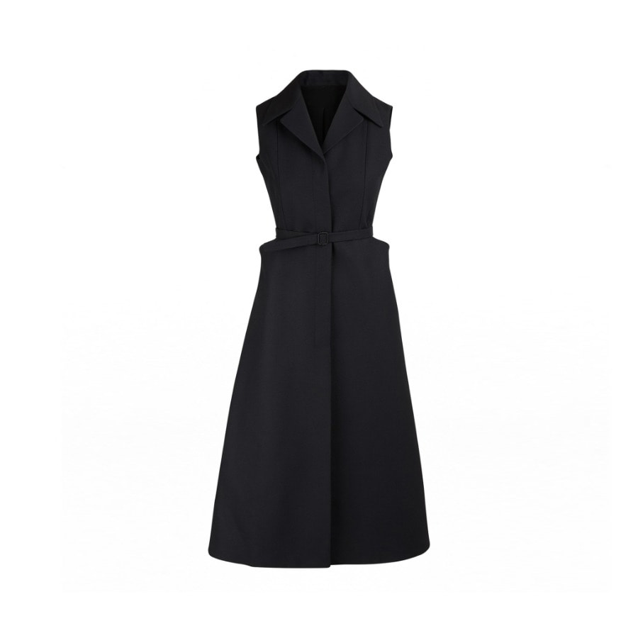 WOOL SILK DRESS VEST