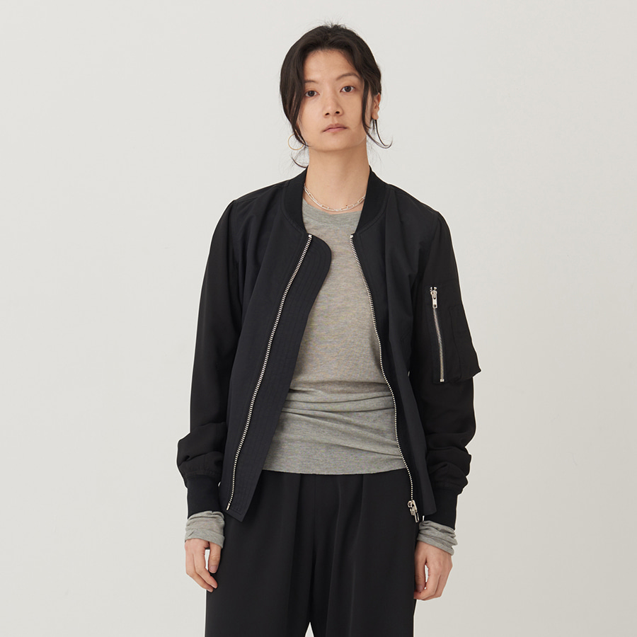 PLACE linen bomber jacket