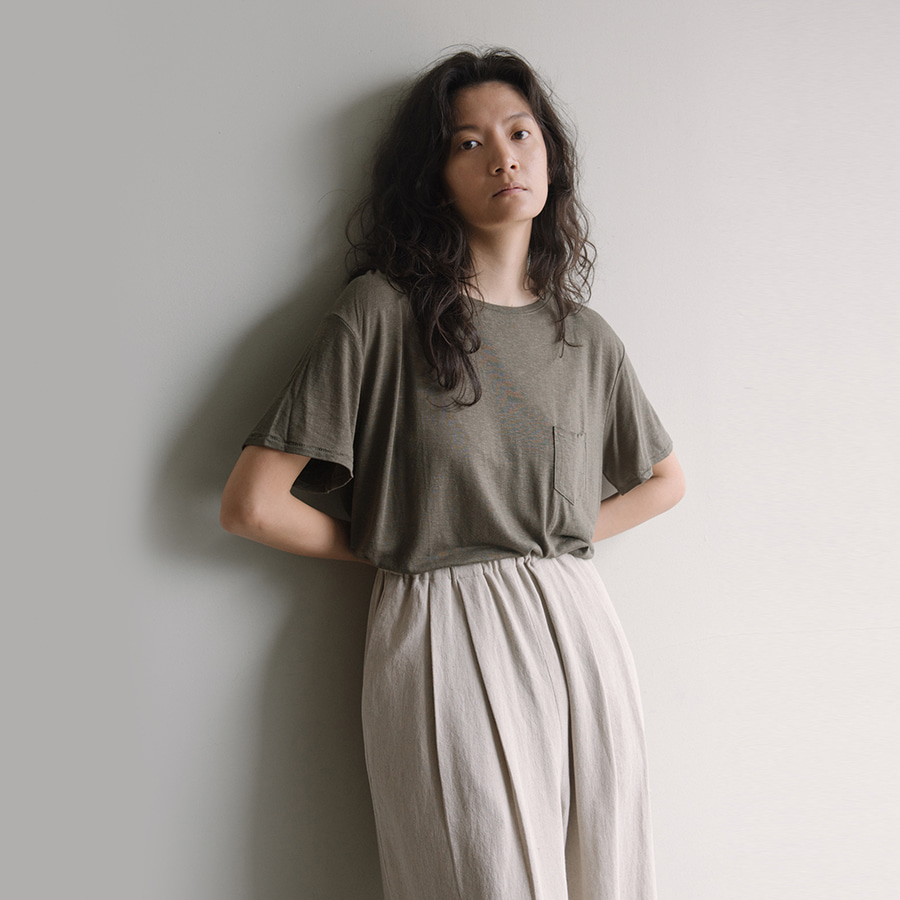 Lizette linen pocket T