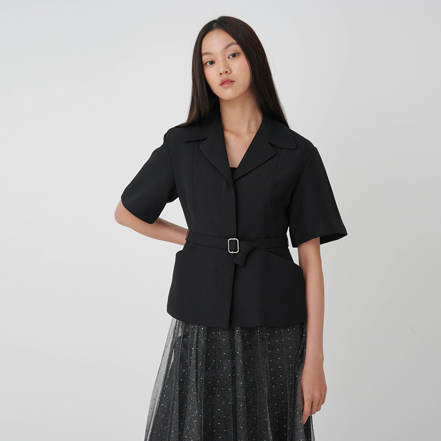 Wool silk half-sleeve JK
