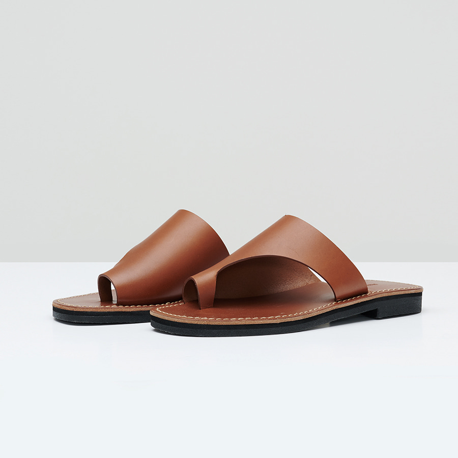 Leather Toe Ring Slides
