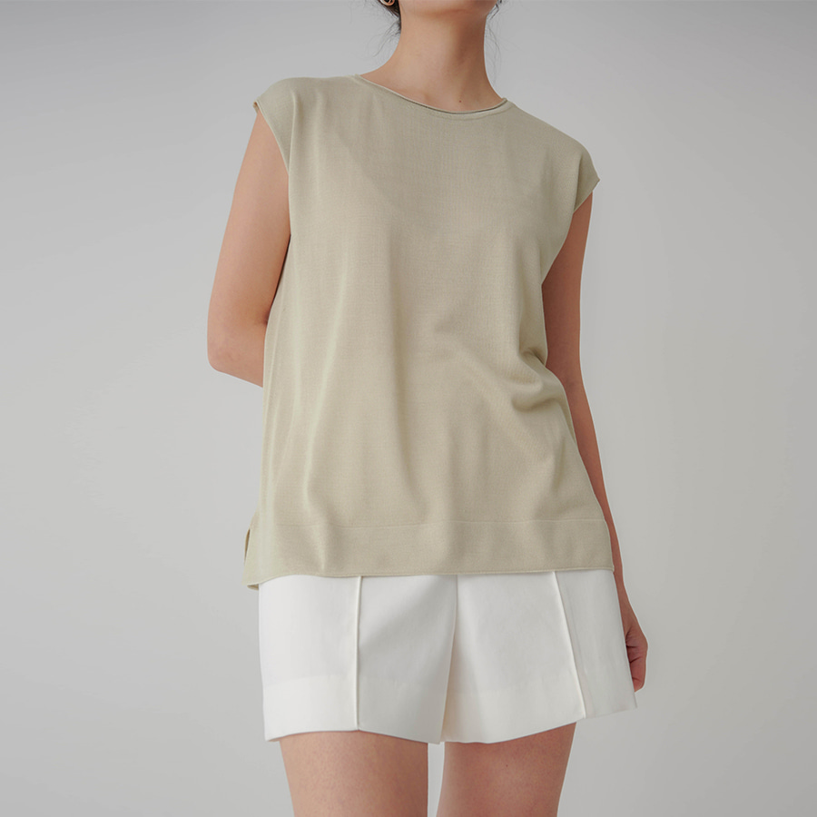 Neutral Sleeveless Top