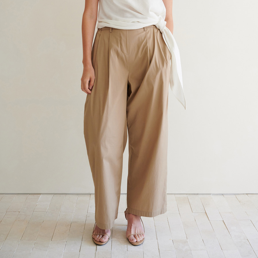 Cotton Wide Leg Slacks