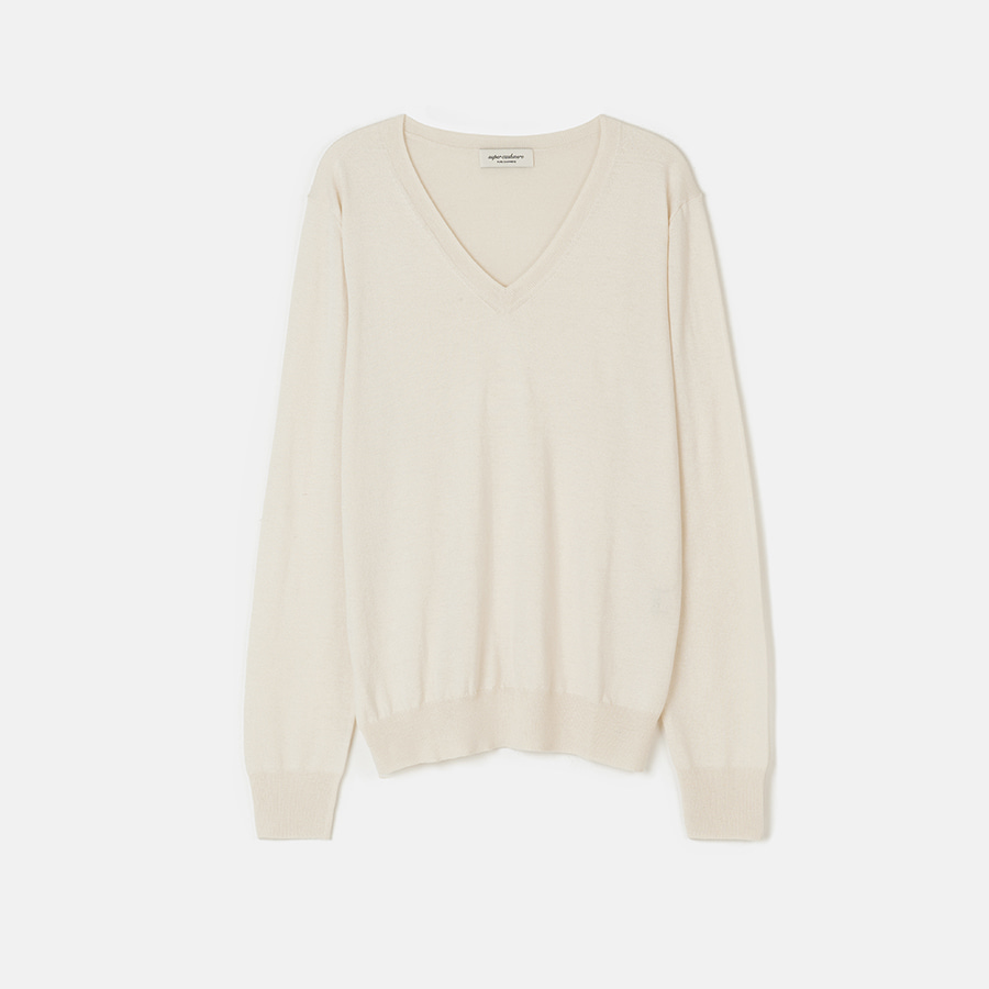 [ SUPERCASHMERE ] Soft touch Silk Cashmere V neck knit