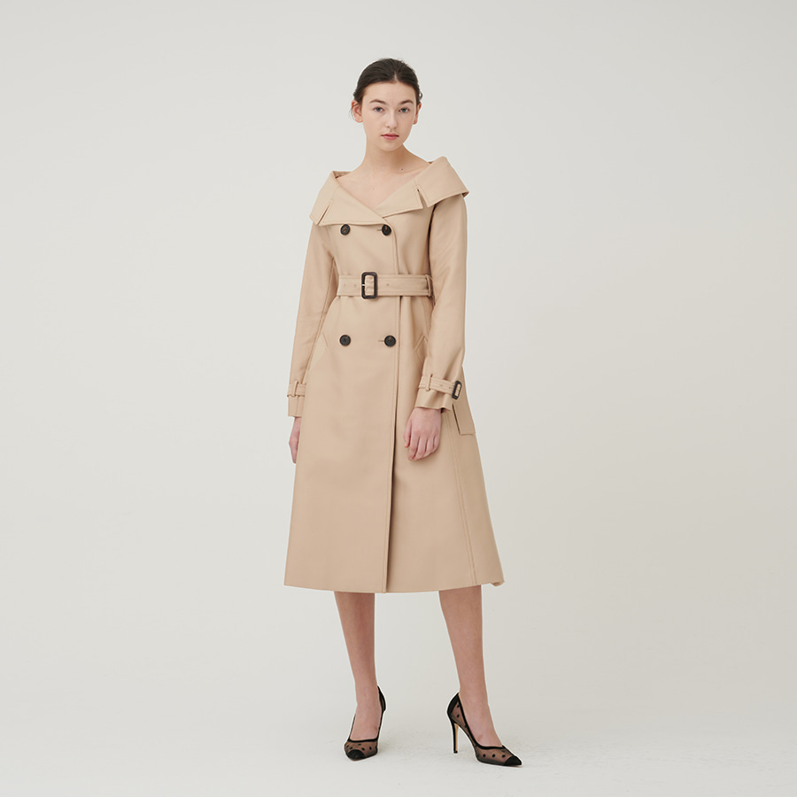 OFF shoulder dressy trench CT