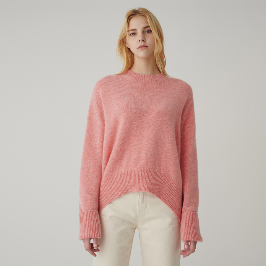 [ SUPERCASHMERE ] ADD oversized crew neck knit