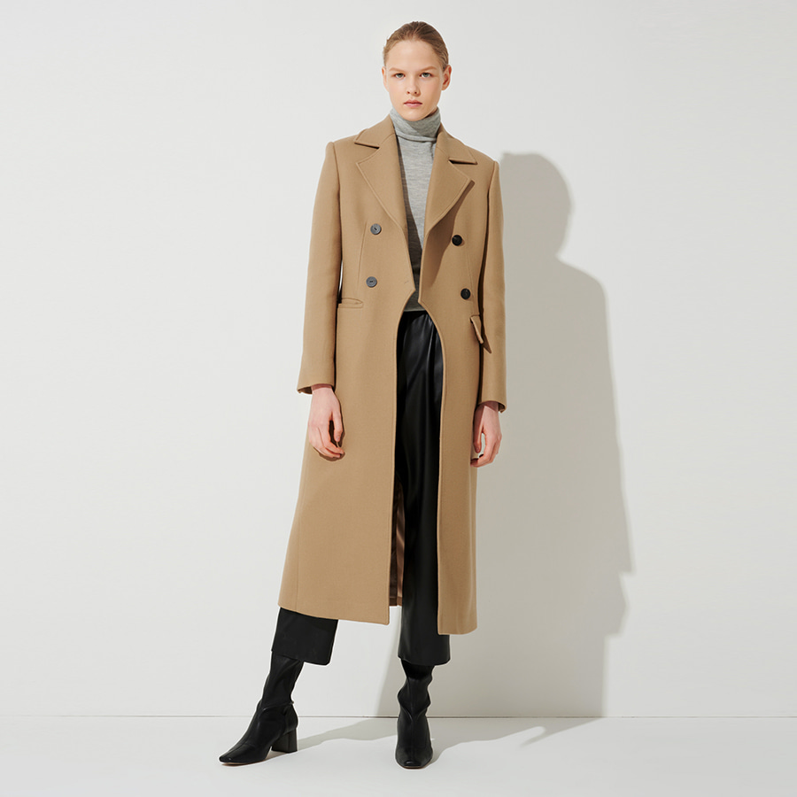 Maddy tailored wool silk coat