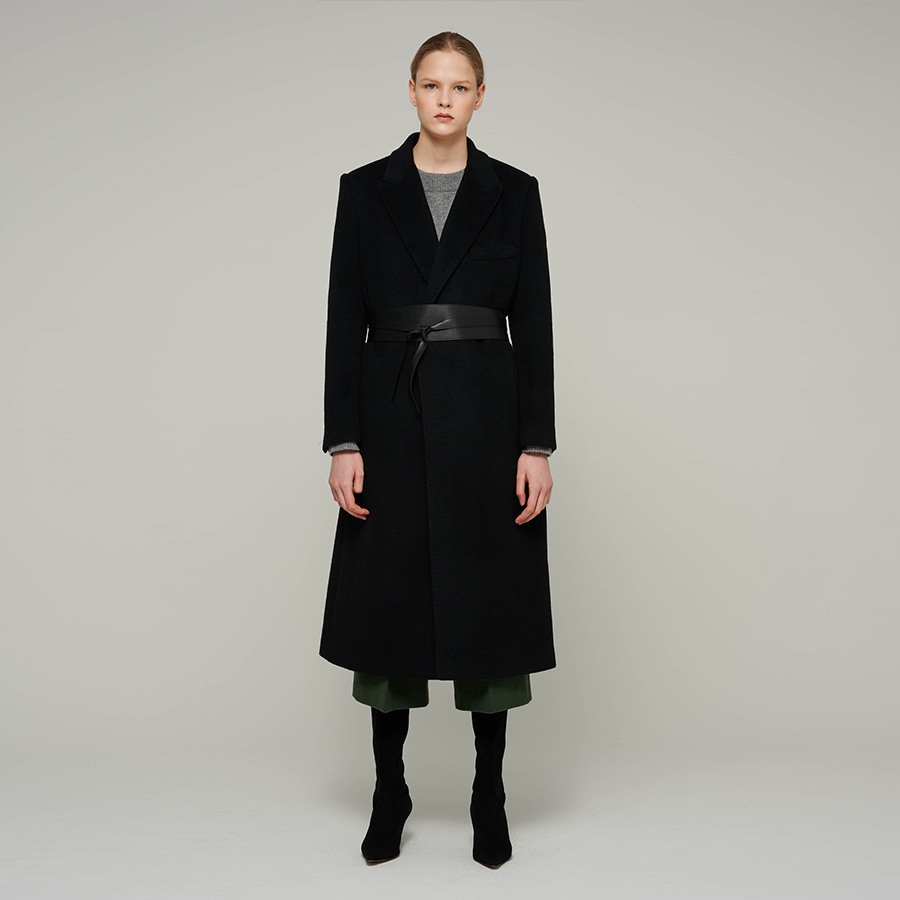 Dominique tailored angora coat