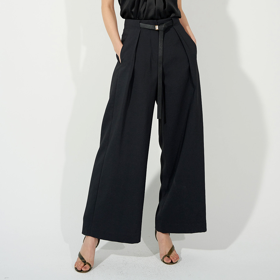 Risa wide belted trousers