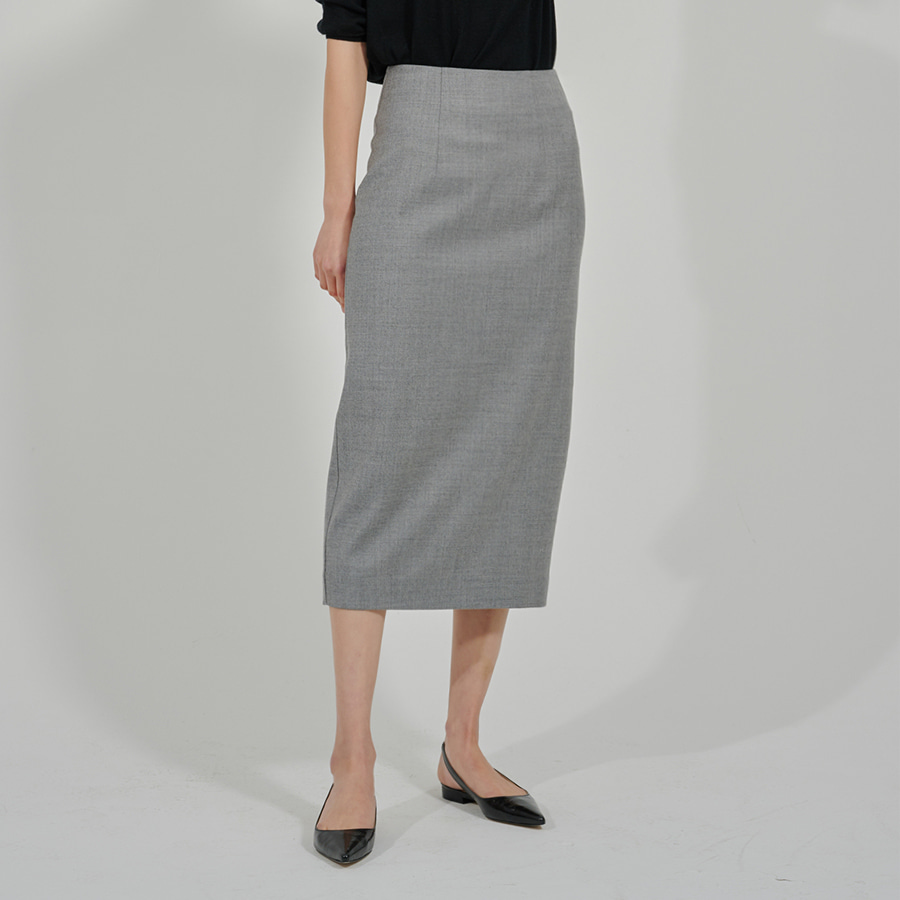 LUX WOOL PENCIL SKIRT